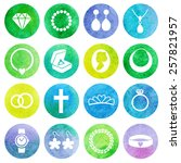 vector set of jewelry... | Shutterstock .eps vector #257821957