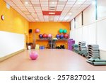 Interior Of Equipped Gym At...