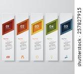 design clean number banners... | Shutterstock .eps vector #257827915