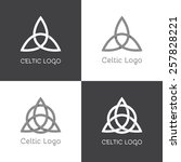 flat celtic logo element with... | Shutterstock .eps vector #257828221