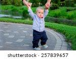 kid making first steps | Shutterstock . vector #257839657