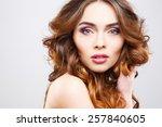 close up portrait of beautiful... | Shutterstock . vector #257840605
