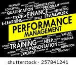 word cloud of performance... | Shutterstock .eps vector #257841241