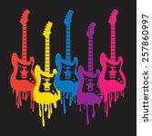 guitar illustration  t shirt... | Shutterstock .eps vector #257860997