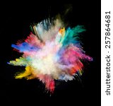 freeze motion of colored dust... | Shutterstock . vector #257864681