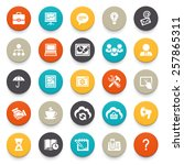 business and finance icons. | Shutterstock .eps vector #257865311