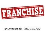 franchise grunge rubber stamp... | Shutterstock .eps vector #257866709