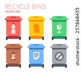 recycle bins plastic  metal ... | Shutterstock .eps vector #257868455