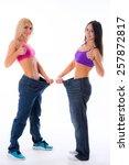two beautiful sports girl women ... | Shutterstock . vector #257872817