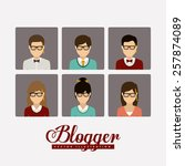 blogger design  vector... | Shutterstock .eps vector #257874089