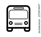 city buss icon | Shutterstock .eps vector #257874497