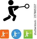 person throwing a hammer icon | Shutterstock .eps vector #257885237