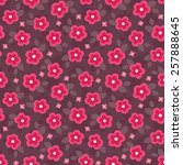 cute seamless pattern with pink ... | Shutterstock .eps vector #257888645