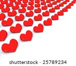 red row hearts. 3d | Shutterstock . vector #25789234
