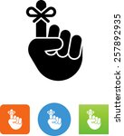hand with string reminder... | Shutterstock .eps vector #257892935