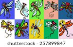 stylized dragonfly   unique... | Shutterstock . vector #257899847
