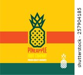 pineapple icon. pineapple... | Shutterstock .eps vector #257904185