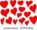 heart shapes | Shutterstock .eps vector #257913581