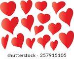 heart shapes | Shutterstock .eps vector #257915105