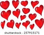 heart shapes | Shutterstock .eps vector #257915171