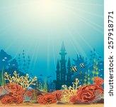 Silhouette Of Underwater Castl...