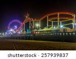 The Rides And Ferris Wheel At...
