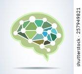 brain idea concept .vector... | Shutterstock .eps vector #257949821
