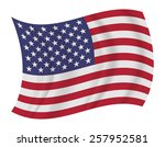 design united states flag... | Shutterstock .eps vector #257952581