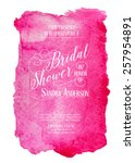 bridal shower invitation card... | Shutterstock .eps vector #257954891