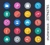 application toolbar simple... | Shutterstock .eps vector #257962781