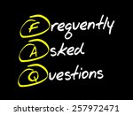 frequently asked questions  faq ...   Shutterstock .eps vector #257972471