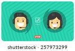 flat vector characters talking... | Shutterstock .eps vector #257973299
