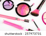 different cosmetics close up | Shutterstock . vector #257973731