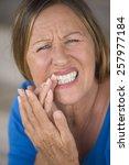 portrait attractive mature... | Shutterstock . vector #257977184
