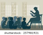 illustration of a female... | Shutterstock . vector #257981921