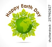 happy earth day greeting design ...   Shutterstock .eps vector #257982827