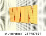 win word in gold and... | Shutterstock . vector #257987597