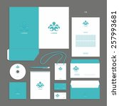 corporate identity design... | Shutterstock .eps vector #257993681