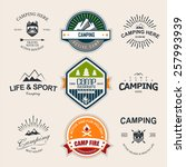 set of retro badges and label... | Shutterstock .eps vector #257993939