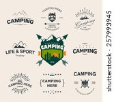 set of retro badges and label... | Shutterstock .eps vector #257993945