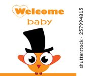 welcome baby card. vector... | Shutterstock .eps vector #257994815
