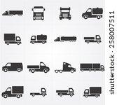 truck icon   Shutterstock .eps vector #258007511