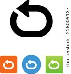 repeating loop icon | Shutterstock .eps vector #258009137
