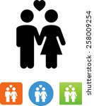 man and woman in love icon | Shutterstock .eps vector #258009254