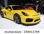 Постер, плакат: 2015 Porsche Cayman GT4