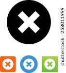 multiply   close icon | Shutterstock .eps vector #258011999