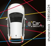 protection of the car a modern... | Shutterstock .eps vector #258016124