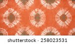abstract tie dyed fabric... | Shutterstock . vector #258023531