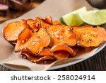homemade organic baked pumpkin... | Shutterstock . vector #258024914