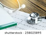 stethoscope and medical check